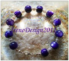 Purple Cat Eye & Silver from IreneDesign2011 by DaWanda.com