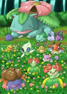 pokemon grass type - Google Search