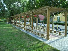 High quality wood plastic flower rack