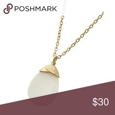 "Mother of Pearl Necklace Gold Tone / Cream Mother Of Pearl / Lead Compliant / Pendant / Long Necklace •   LENGTH : 30"" + EXT •   PENDANT : 7/8"" X 1 1/2""  •   GOLD/IVORY ( Does Not Come With Earrings ) R.E.A.L Jewelry Jewelry Necklaces"