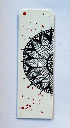 coco.nut: black and white bookmark
