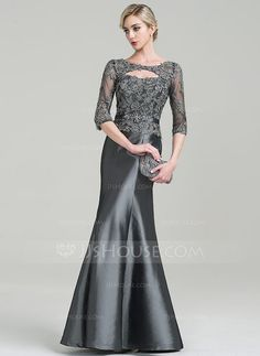 Women S Clothing Mother Of The Bride Beaded Mock Top Gown