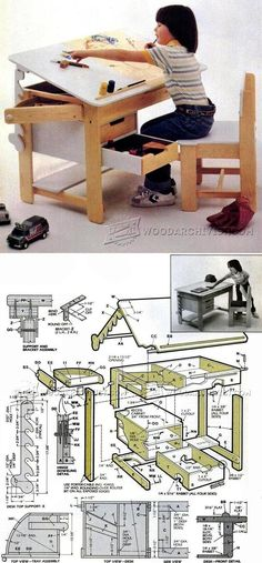Kids Desk Plans - Children's Furniture Plans and Projects | WoodArchivist.com
