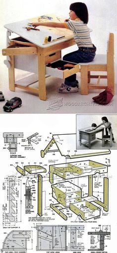 Kids Desk Plans - Children's Furniture Plans and Projects | WoodArchivist.com