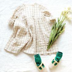 Renai Dress - Grey, Cream