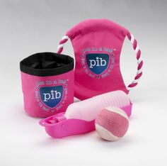 Looking to go out and play with your pet?? The park set has it all! You get a Water bottle ,Frisbee , snack bag and a tennis ball.