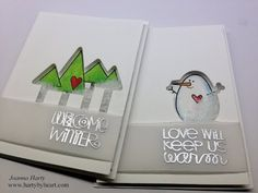 Two Clean and Simple Shaker cards using Paper Smooches + Video Xmas Cards, Diy Cards, Holiday Cards, Christmas Tag, Christmas Crafts, Christmas Ideas, Paper Art, Paper Crafts, Card Tutorials
