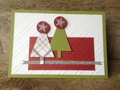 De kerst mag beginnen! De kerstboomjes van stempelset Lots of Joy van Stampin' Up! laten zich gemakkelijk uitsnijden met de bijbehorende Tree pons. Ook leuk in verschillende patronen. #kerst #kaarten #Stampinup #DIY #stempelset #stempelen