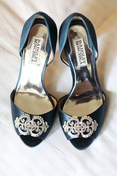 Teal Badgley Mischka wedding shoes: http://www.stylemepretty.com/washington-weddings/seattle/2014/01/14/organic-hotel-1000-wedding/ | Photography: Kate Price - http://katepricephotography.com/