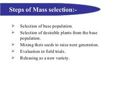6. mass selection