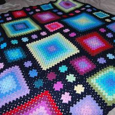 Graduated Squares Crochet Granny Blanket £65.00