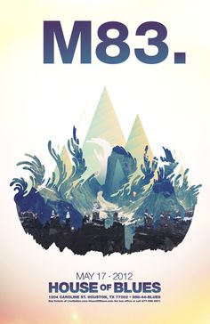 M83 - House of Blues concert poster