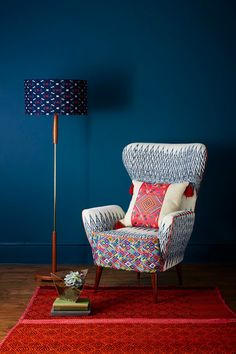 Tribal Chairs and Ikat Cushions