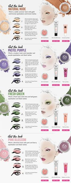 Although all these products are from body shop don't limit yourself to just them!! Be a bit adventurous and try other shadows as well!!!