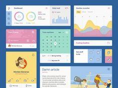 Colorful+UI+kit+PSD