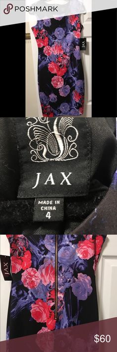 Neiman Marcus JAX Floral Dress Beautiful Neiman Marcus JAX Dress. NWT Size 4. Non Smoking Home. Neiman Marcus Dresses
