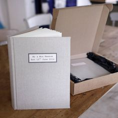 This luxury wedding photo album makes a wonderful gift for the couple. This personalised wedding photo album is available in a natural shade of 100% Irish Linen. It is personalised on the front with wording of your choice. Personalisation is done on unbleached calico. We have found that Charcoal colour for the print works best but there are 4 colours available. There is also a choice of 4 fonts available. Although we do not want to limit the amount of words you would like to use, we do ...
