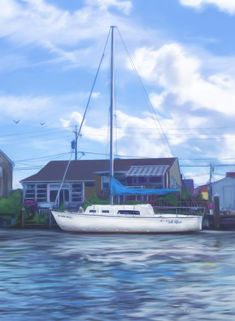 Custom Boat Portrait, sailboat commission, hand painted digital painting from your photo, house boa Sailboat Art, Nautical Art, Bad Photos, Christmas Gifts For Husband, Valentines Art, Canvas Paper, Digital Portrait, American Artists, Painting Techniques