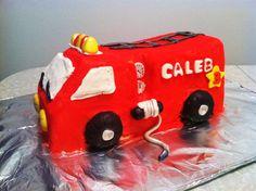 Fire truck cake!