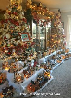 Hello friends! Here it ..the Christmas Village..The houses are a combination of Dept. 56, Kohls, Joann Fabrics and even a couple from W...