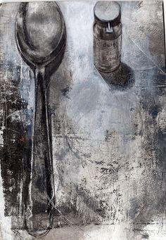 olio di achillea e cucchiaio by Selena Maestrini ~ETS Still Life Drawing, Still Life Art, Illustration Art Dessin, Medical Illustration, Observational Drawing, Ap Studio Art, A Level Art, Wow Art, Pics Art