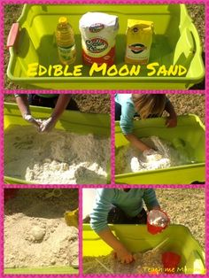 Edible Moon Sand- Sensory Activity