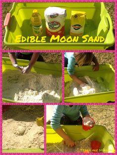 Teach me Mommy: Edible Moon Sand