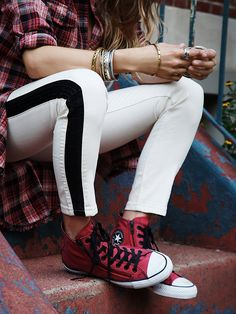 Converse Double Zip Hi Top Chucks at Free People Clothing Boutique