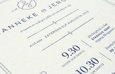 Hanneke & Jeroen - Wedding invitation on Behance