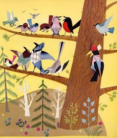 littleg:    (via cool illustration / From Funny Bunny by Alice & Martin Provensen 1950)    yet another bird illustration, but its too cute not to reblog! :D