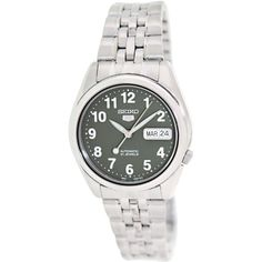 Seiko Men's 5 Automatic SNK379K Silver Stainless-Steel Automatic Watch