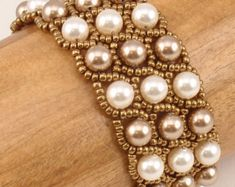 Beading Tutorial Double Diamond and Lacy Braid por SmadarsTreasure
