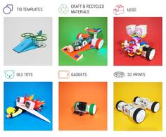 Build, animate & program creations made with recycled and craft materials, old toys, lego, gadgets, 3D prints and more.