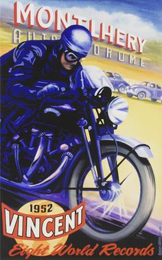 Vincent Motorcycle Poster
