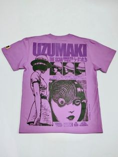 Japanese fashion brand Hardcore Chocolate is showing their scary side with a Junji Ito collaboration, focused on his legendary horror series Uzumaki. A new line of shirts and pullovers fe Swag Outfits, Trendy Outfits, Cool Outfits, Fashion Outfits, Jean Paul Gaultier, T Shirt Png, Junji Ito, Japanese Fashion, Printed Tees