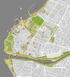 """1. Ödül - Çanakkale Belediyesi Kent Meydanı ve Çevresi Düzenlenmesi """"Yeşil"""" Kentsel Tasarım Proje Yarışması Landscape And Urbanism, Landscape Drawings, Urban Landscape, Architecture Site Plan, Architecture Drawings, Map Design, Site Design, Map Diagram, Urban Design Plan"""