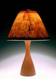 Translucent wood lampshade from Peter Bloch. #woodturning #wood #lampshade