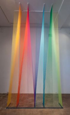 gorgeous thread installations created by Mexican artist Gabriel Dawe.