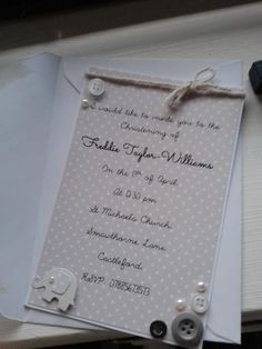 Christening/Naming/Baptism Ceremony Invitations Available Online To Buy From Buttercups Cards and Invites For A Great Deal On Christening/Naming/Baptism Ceremony Invitations Or Any Other Unique Handmade Craft Gifts And Creative Gift Ideas Visit Stallandcraftcollective.co.uk #372 First Communion Cards, Boy Christening, Christening Invitations, Card Ideas, Gift Ideas, Shop Ideas, Creative Gifts, Nursery Ideas, Craft Gifts