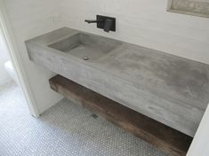 mueble lavabo estilo minimalista de cemento