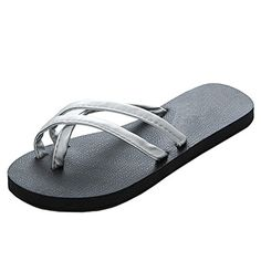 856dac0e961cc Womens Hot Selling Comfort Beach Flat Flip Flop Sandals Silver US Size 9     You can get additional details at the image link.