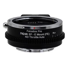 Vizelex ND Throttle Fusion Smart AF Lens Adapter - Canon EOS - EF (NOT EF-S) D/SLR Lens to Sony Alpha E-Mount Mirrorless Camera Body with Full Automated Functions and Built-In Variable ND Filter (2 to 8 Stops)  EOS-SnyE-P-Fusion-NDThrtl $249.95