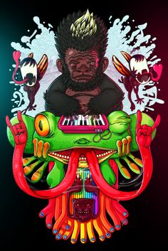 Sick illustrations by México City based artist, Rafahu.