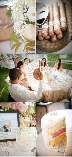 love the idea of cigars at the wedding.....perfect for my groom