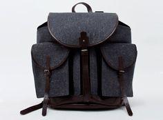 Dries Van Noten Wool Leather Backpack • Highsnobiety