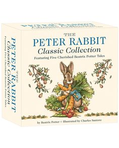 You need to see this The Peter Rabbit Classic Collection: A Board Book Box Set by Beatrix Potter and Charles Santore on Rue La La.  Get in and shop (quickly!): https://www.ruelala.com/boutique/product/100288/32793928?inv=arbonnelayton&aid=6191