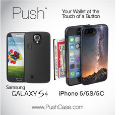 Slimmest Wallet for smartphones ever made, period.  iPhone & Samsung models now available. www.pushcase.com