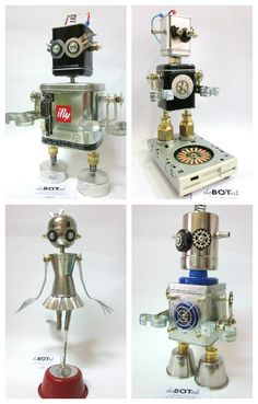 deBOTed means devotion for Robots. deBOTed creates hand-made figures of robots…