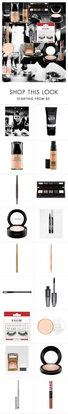 """Audrey Hepburn makeup tutorial"" by oroartye-1 on Polyvore featuring beauty, Tiffany & Co., Maybelline, Revlon, MAC Cosmetics, Bourjois, L'Oréal Paris, eylure, Rimmel and Benefit"