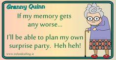 Irish humour... Old - who me?